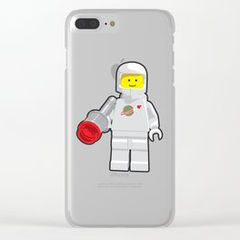 Vintage White Spaceman Minifig Clear iPhone Case
