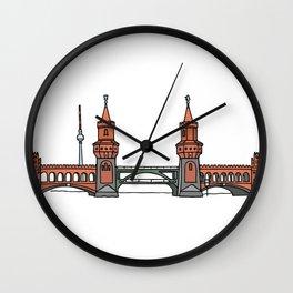Oberbaum Bridge in Berlin Wall Clock