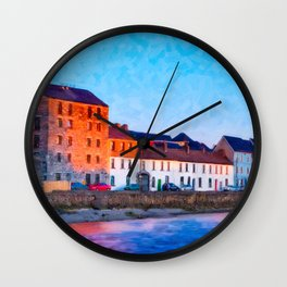 End Of A Beautiful Day In Galway Ireland On The Seaside Wall Clock