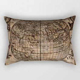 Vintage Old World Map Design Rectangular Pillow