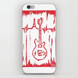 Jesse Hughes (Eagles of Death Metal) Maton MS5000 Guitar Linocut Print iPhone Skin