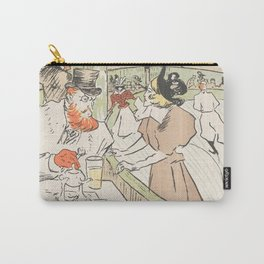 """Henri de Toulouse-Lautrec """"In the Skating Professional Beauty"""" Carry-All Pouch"""