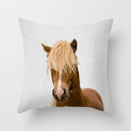 Horse - Colorful Throw Pillow