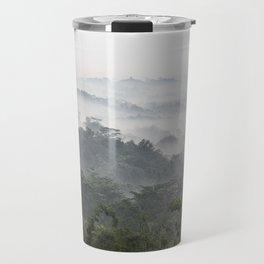 Borobudur view - foggy sunrise Travel Mug