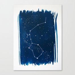 Aquarius Zodiac Print Canvas Print