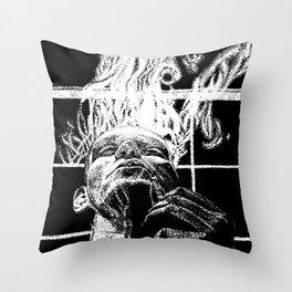 Ink and smoke Throw Pillow