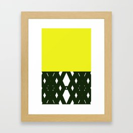 yellllllow Framed Art Print