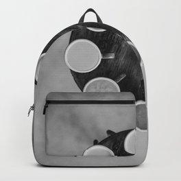 Coffee Circle (Black and White) Backpack