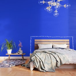 Cheapest Solid Deep Blue Orchid Color Wallpaper