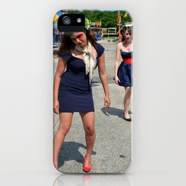 Zombie Pin Up Carnival iPhone Case