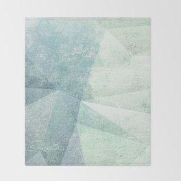 Frozen Geometry - Teal & Turquoise Throw Blanket