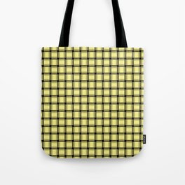 Small Khaki Yellow Weave Tote Bag