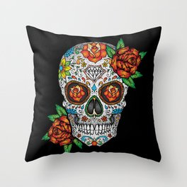 Sugar Skull, Day Of The Dead Throw Pillow