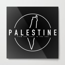 Palestine x Outline Metal Print