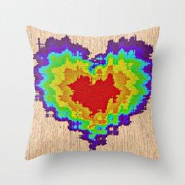 Colors heart Throw Pillow