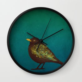 Camouflage: The Blackbird Wall Clock