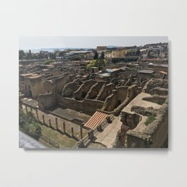 View From Above Herculaneum  Metal Print