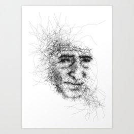 Vague portrait Art Print