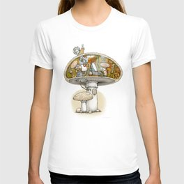 Mushroom Aliens inside the Mushroom T-shirt