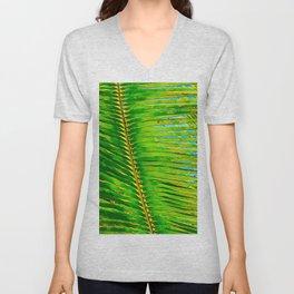 Coconut Frond in Green Aloha Unisex V-Neck