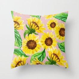 Sunny #society6 #decor #buyart Throw Pillow