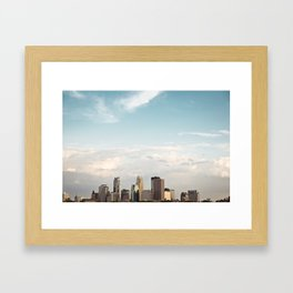 Minneapolis, Mn. Skyline.  Framed Art Print