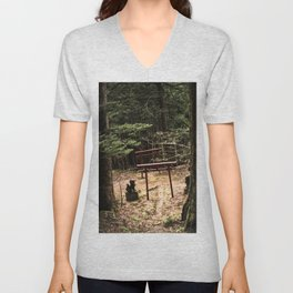 Toho path to forest shrine Unisex V-Neck