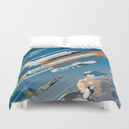 100 Years of Aviation Duvet Cover