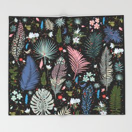 Fairy Tale Magic Garden Pattern Throw Blanket