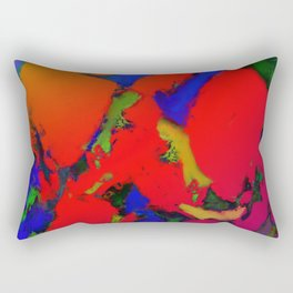 Alligator red glow Rectangular Pillow