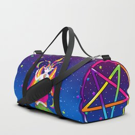 1997 Neon Rainbow Baphomet Duffle Bag