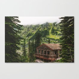 Mountain Chalet Canvas Print