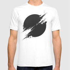 The Sun Is Black Mens Fitted Tee White MEDIUM