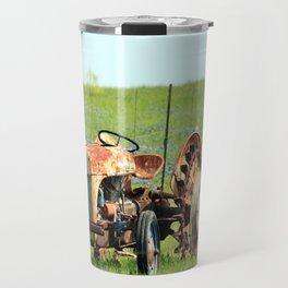 Old Tractor & Bluebonnets Travel Mug