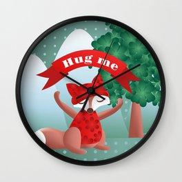 The fox say ''Hug Me'' Wall Clock