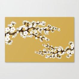 Japanese Sakura Cherry Blossoms (gold) Canvas Print
