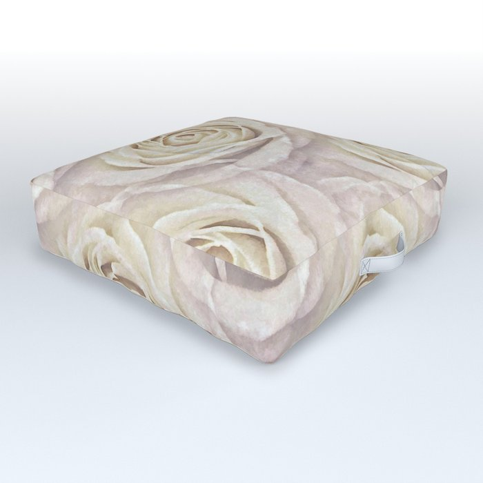 Powdered and Whipped Outdoor Floor Cushion