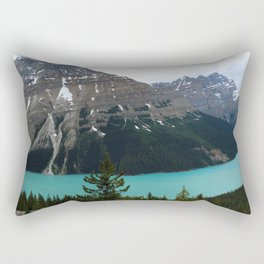 Peyto Lake Panorama Rectangular Pillow