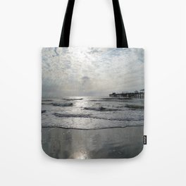 On A Stormy Winterday Tote Bag