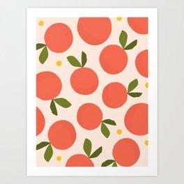 Orange + Grapefruit Art Print