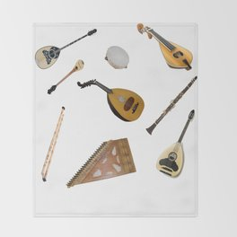 Traditional Music Throw Blanket