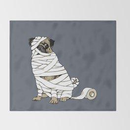The Mummy Pug Return Throw Blanket