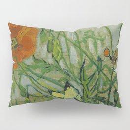 """Vincent Van Gogh """"Butterflies and Poppies"""" Pillow Sham"""