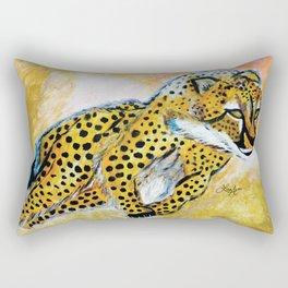 Catch Me If You Can (Cheetah) Rectangular Pillow
