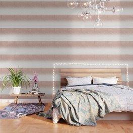 Modern faux rose gold glitter ombre modern chevron stitches pattern Wallpaper