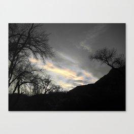 Heaven was open Canvas Print