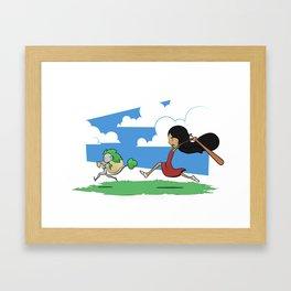 Come Back Here Framed Art Print