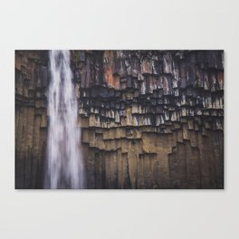 Waterfall and Basalt Rocks Canvas Print