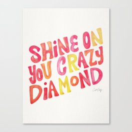 Shine On Your Crazy Diamond – Pink & Melon Palette Canvas Print