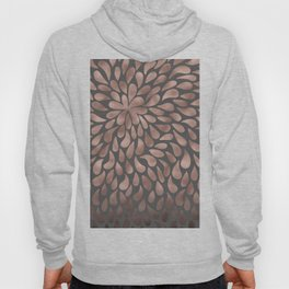 Rosegold - abstract floral elegant pattern on grey background Hoody